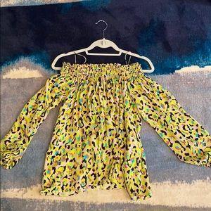Nicole Miller Sample: Off the shoulder blouse